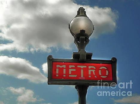 Gregory Dyer - Paris France Metro Sign