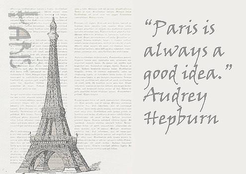 Paris is always a good idea, Audrey Hepburn by Vel Verrept