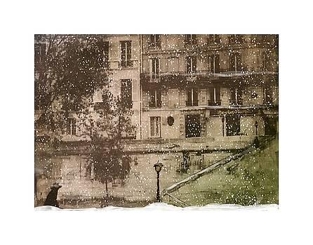 Paris Left Bank Winter Scene by Phyllis Hollenbeck