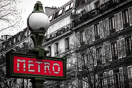 Paris Metro in Color by Andrew Soundarajan