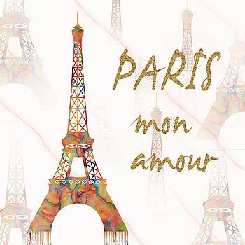 Paris Mon Amour mixed media by Georgeta Blanaru