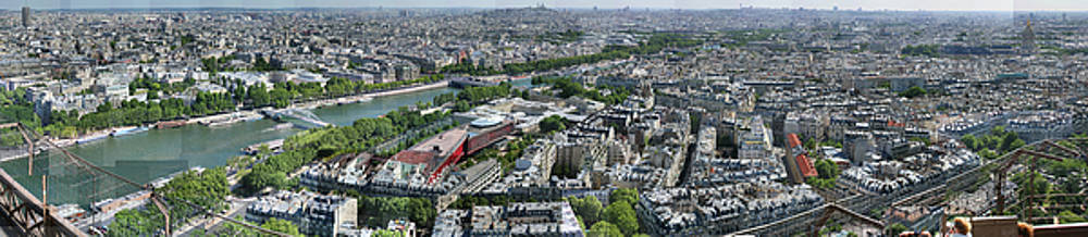 Paris Panorama from the Eiffel Tower by Stephen Farley