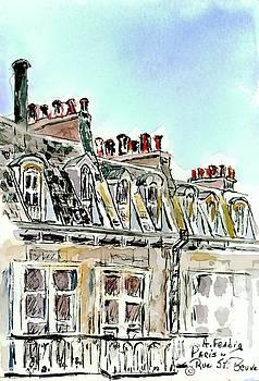 Paris Roofs by Albert Fendig