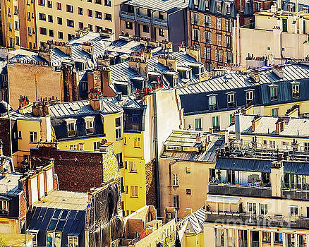 Paris Rooftops by Katya Horner