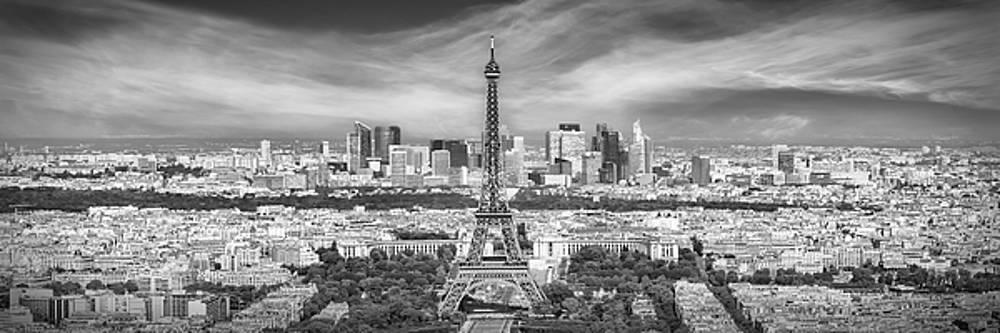 Melanie Viola - Paris Skyline - Monochrome Panorama