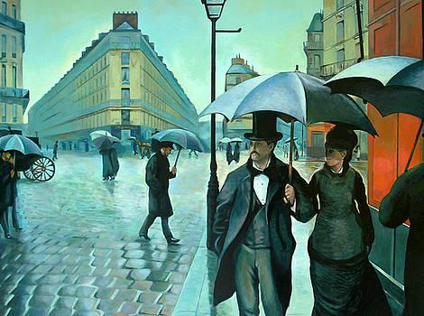 Paris Street Rainy Day by Jose Roldan Rendon