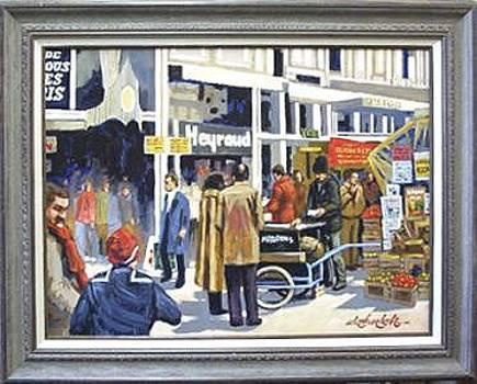 Paris Street Scene by Larry Wetherholt