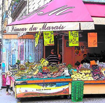 Jan Matson - Paris Street Scene - Primeur du Marais