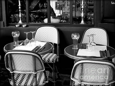 Paris Street Side Cafe by Tanya Searcy