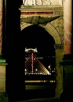 Paris, The Louvre at Night by John Tschirch