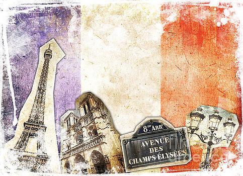 Delphimages Photo Creations - Paris vintage collage