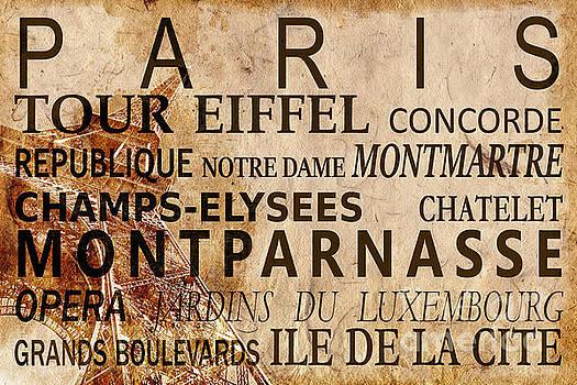 Delphimages Photo Creations - Paris vintage poster