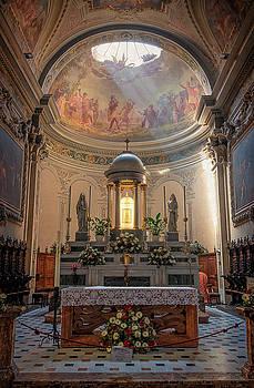 Parish Church of Saint Stephen Menaggio Lake Como Italy by Joan Carroll