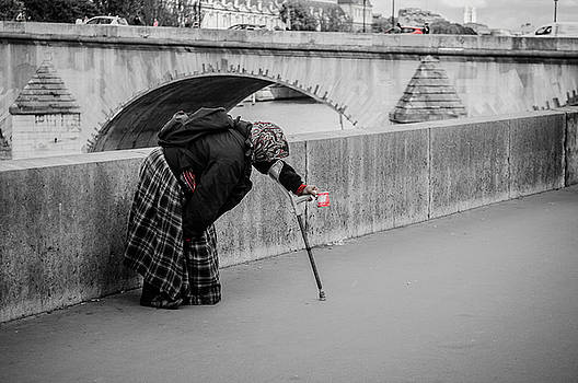 Parisian Beggar Lady by Paul Warburton