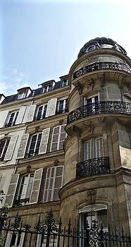Parisian Scenes. Left Bank Houses by John Tschirch