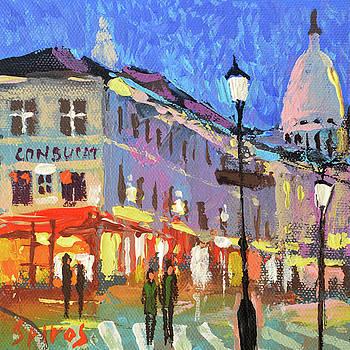 Parisian street by Dmitry Spiros