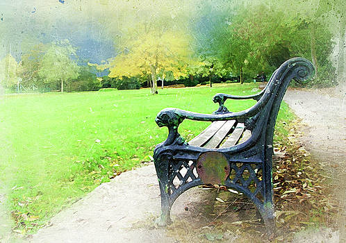 Park Bench by Judi Saunders