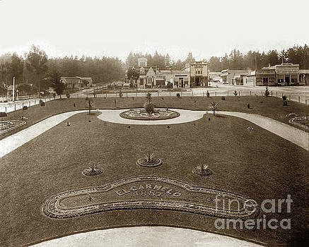 California Views Archives Mr Pat Hathaway Archives - Park in front of El Carmelo Hotel between Grand and Fountain and Lighthouse Avenue. 1887