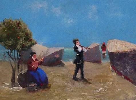 Park Musicians by Irena  Jablonski