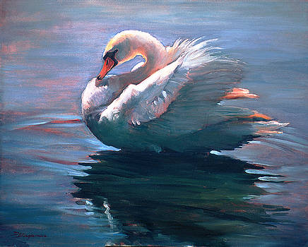 Park Swan by Donna Bingaman