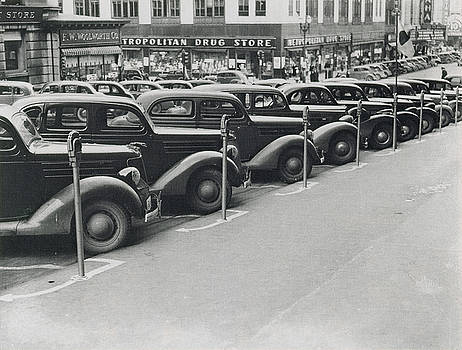 Photo Researchers - Parked Cars and Meters 1938