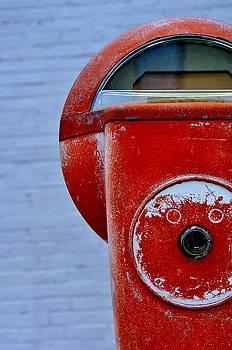 Parking Meter in Red 2 by Jan Scholke