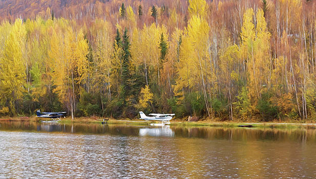 Wes and Dotty Weber - Parking on an Alaskan Lake