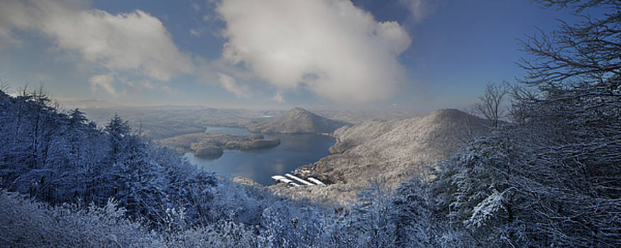 Parksville Lake Snowy Overlook by Dennis Sprinkle