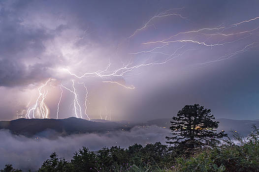 Parkway Light Show by Steve Hammer
