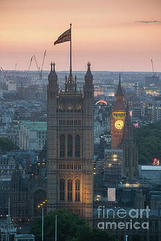 Parliament Closeup Sunset by Mike Reid