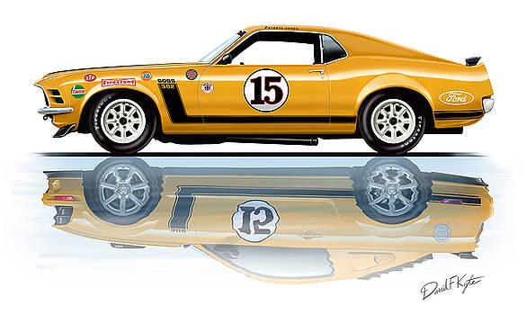 Parnelli Jones Trans Am Mustang by David Kyte