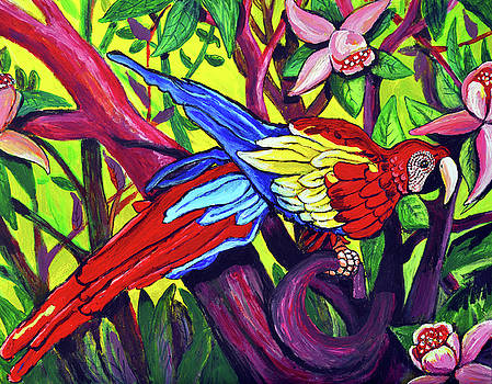 Parrots at Rest by Bob Crawford