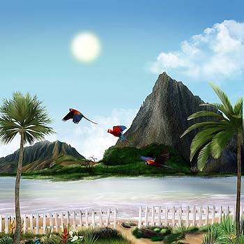 Parrots in Paradise by Mark Taylor
