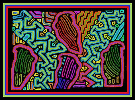 Parrots in Paradise by Vagabond Folk Art - Virginia Vivier