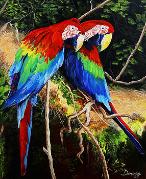 Parrots in the Jungle by Dominica Alcantara