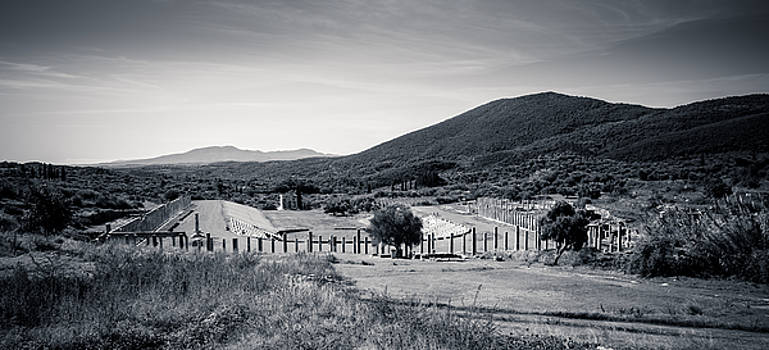 Part of Ancient Messenei. The Stadium / Greece by Stavros Argyropoulos