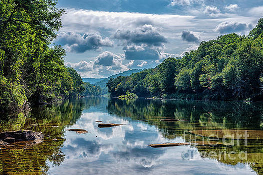 Partially Cloudy Gauley River by Thomas R Fletcher
