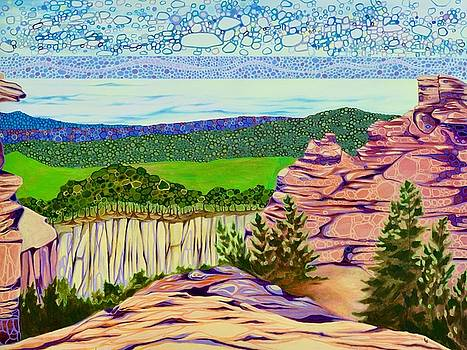 Particle Landscape Midwestern Bluffs by Karen Williams-Brusubardis
