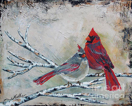 Partners - cardinals by Noelle Rollins