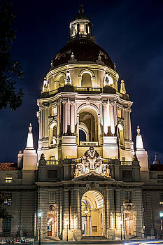 Pasadena City Hall - Night by Rollie Robles