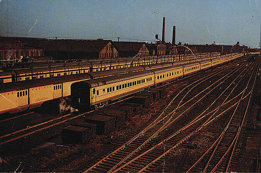 Chicago and North Western Historical Society - Passenger Cars Parked in Metropolitan Area