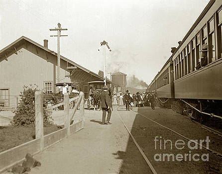 California Views Mr Pat Hathaway Archives - Passenger train at Cloverdale Circa 1910 11-10 A.M.