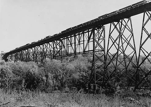 Chicago and North Western Historical Society - Passenger Train Crosses Boone Bridge