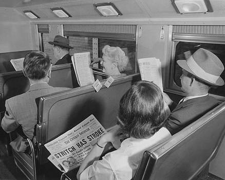 Chicago and North Western Historical Society - Passengers in Bilevel Car - 1958