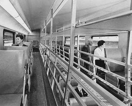 Chicago and North Western Historical Society - Passengers in Bilevel Car -  1959