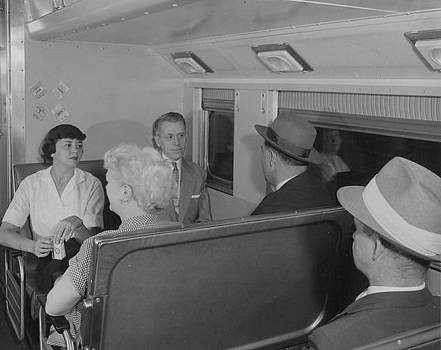 Chicago and North Western Historical Society - Passengers Inside Bilevel Car - 1958