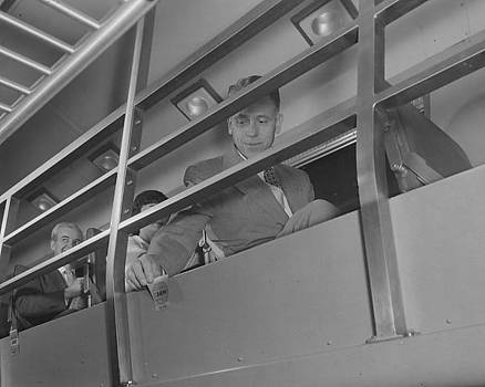 Chicago and North Western Historical Society - Passengers on Second Floor of Bilevel Coach - 1958