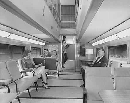 Chicago and North Western Historical Society - Passengers  Served in 400 Bilevel Lounge - 1958