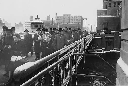 Passengers Walk Through Chicago by Chicago and North Western Historical Society