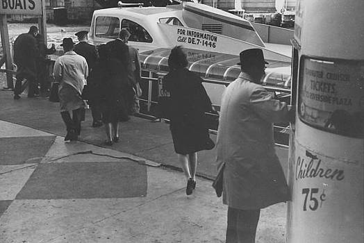 Chicago and North Western Historical Society - Passengers at Chicago Passenger Terminal Dock - 1962